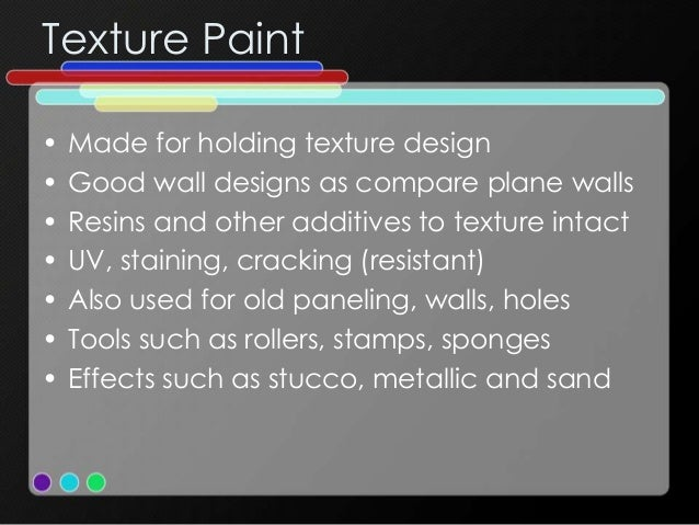 Different types of Paint and Finishes