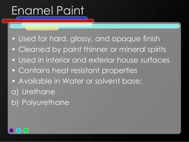Matt And Glossy Types Of Paint Canada