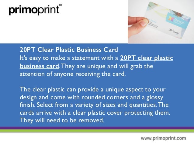 The different types of plastic business cards 6 20pt clear plastic business card its easy to make a statement with reheart Gallery