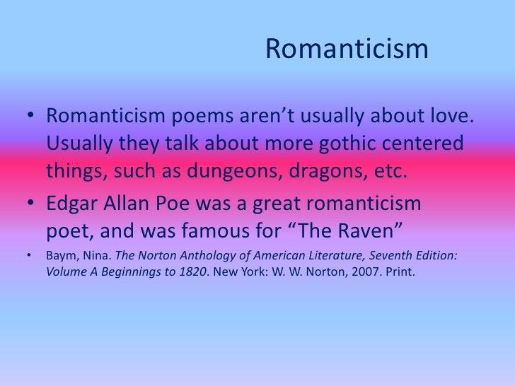 american romanticism essay topic