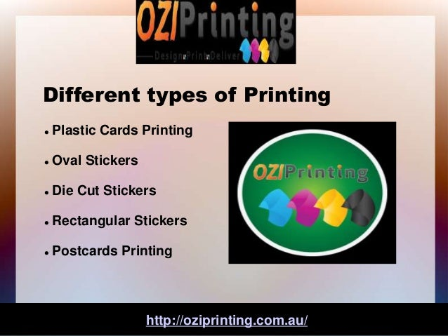Printing and different types