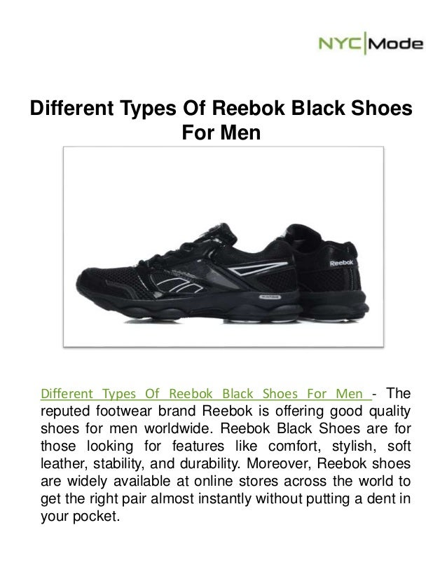 reebok shoes types
