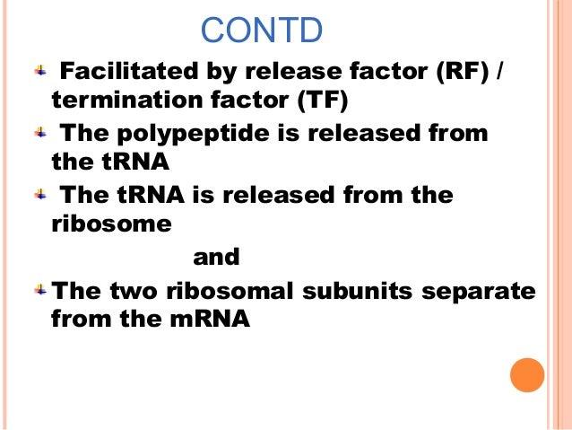 Different types of rna & translation
