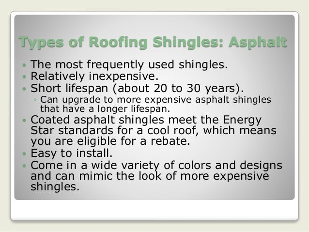 Different Types Of Roofing Shingles