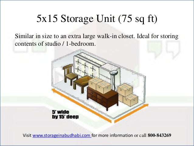 4. 5x15 Storage Unit ...  sc 1 st  SlideShare & Different types of Storage Units in Abu Dhabi Sizes and its Uses