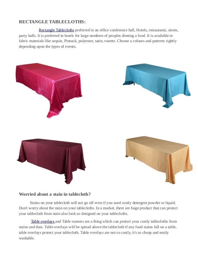 Different Types Of Tablecloths Fuzzy Fabric