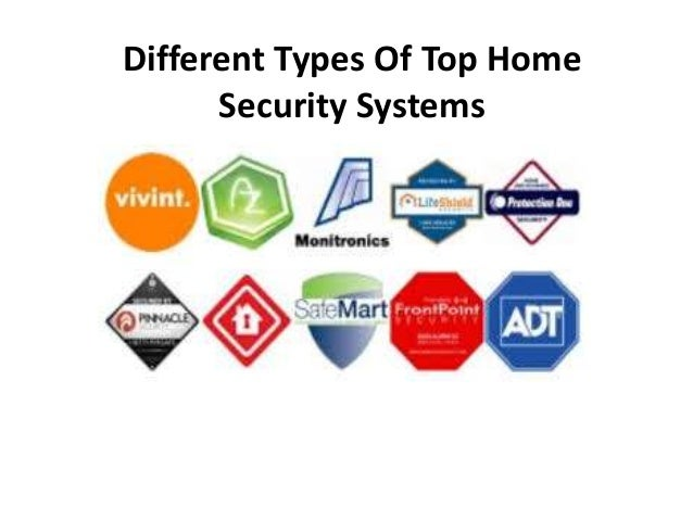 Different Types Of Top Home Security Systems ...