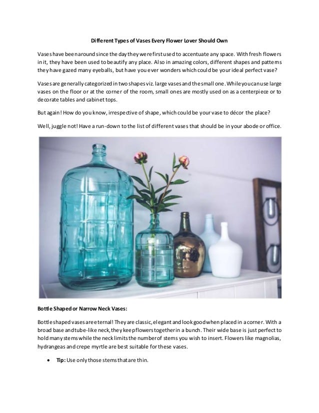 Different Types Of Vases Every Flower Lover Should Own