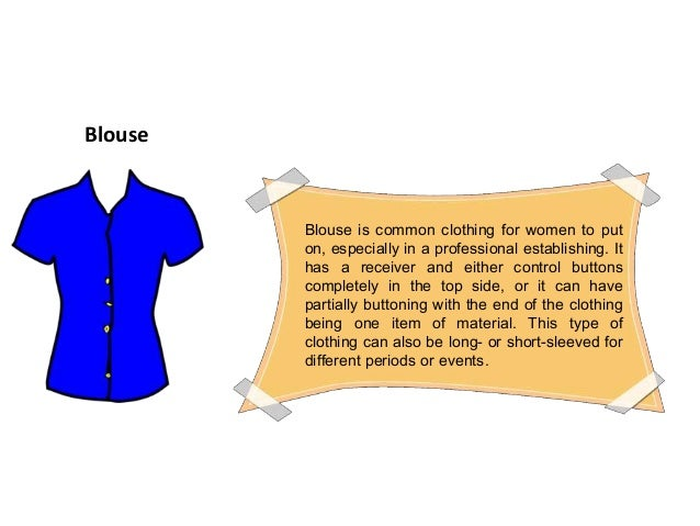 Different types of women's clothing