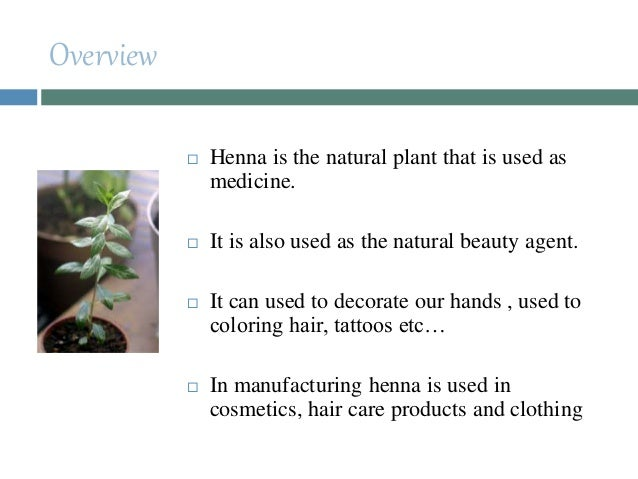 Different Uses Of Henna