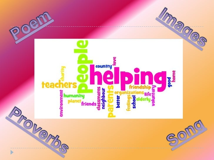 Different ways of helping people 2