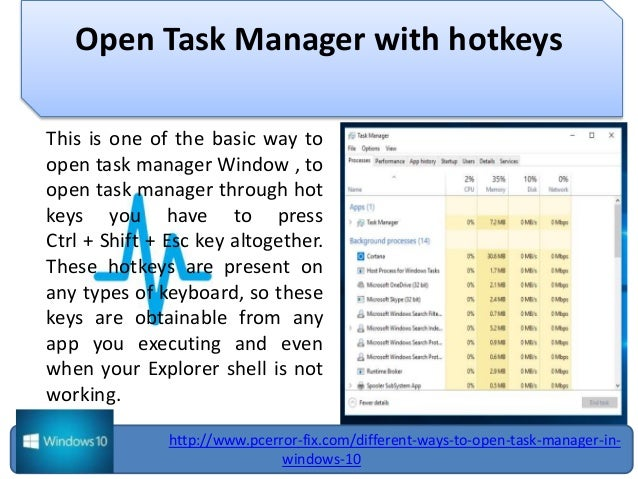 Different ways to open task manager in windows 10 open task manager ccuart Gallery