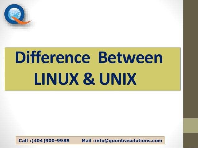 2. Difference Between LINUX \u0026 UNIX