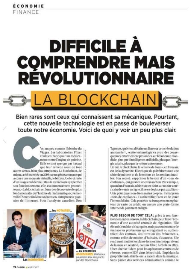 Difficile à comprendre mais révolutionnaire, la blockchain