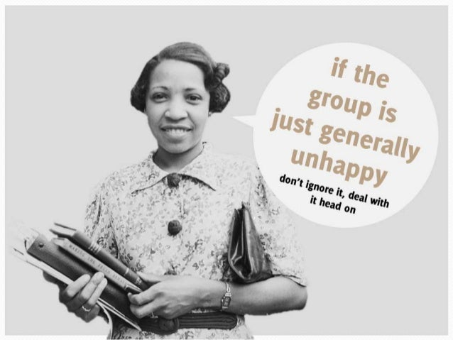 If the group is just generally unhappy, don't ignore it, deal with it head on
