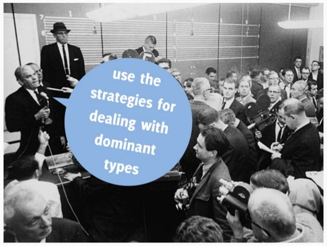 If one or two people dominate the meeting and no-one else can get a word in
