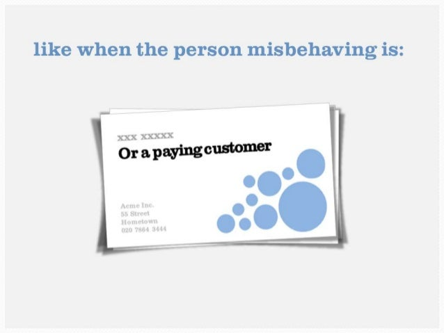 Or a paying customer
