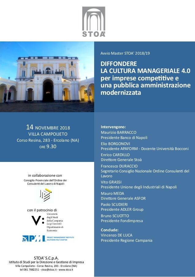 in collaborazione con Consiglio Provinciale dell'Ordine dei Consulenti del Lavoro di Napoli con il patrocinio di 14 NOVEMB...
