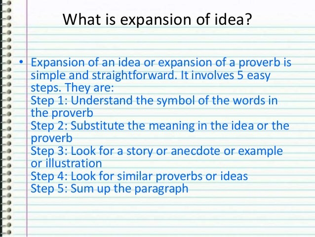 diffrence between essay paragraph expansion of idea 8