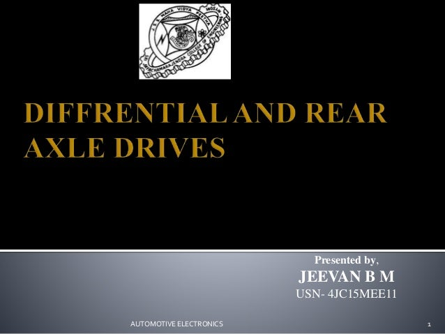 Presented by, JEEVAN B M USN- 4JC15MEE11 AUTOMOTIVE ELECTRONICS 1