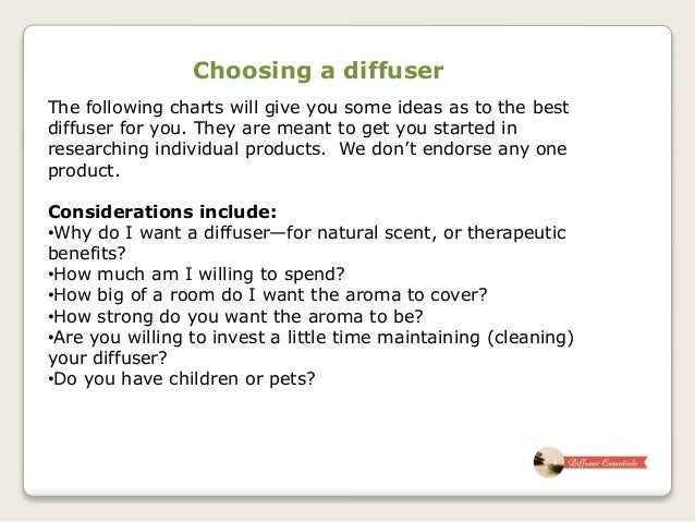 Choosing An Essential Oil Diffuser