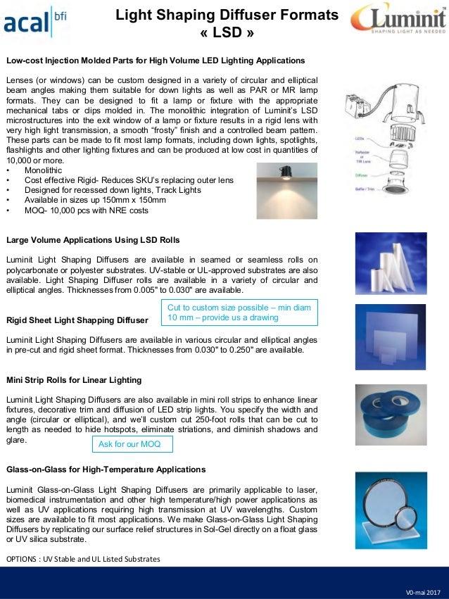 Diffuseurs de lumière luminit v0-mai2017light