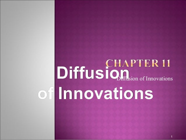 DiffusionDiffusionof Innovationsof InnovationsDiffusion of Innovations1