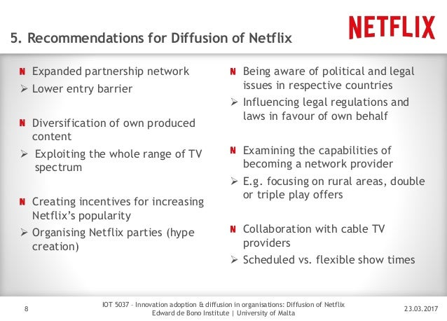 netflix barriers to entry 23 barriers to entry, technology, and timing learning objectives  and statements about low entry barriers ignore the difficulty many firms will have in matching the competitive advantages of successful tech pioneers should blockbuster have waited while netflix pioneered in a year where netflix profits were up seven-fold, blockbuster.