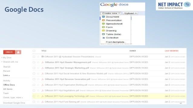 Google Docs Google Docs               10