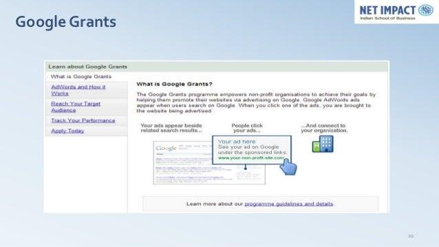 Google Grants                20