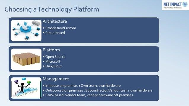 Choosing a Technology Platform            Architecture            • Proprietary/Custom            • Cloud-based           ...