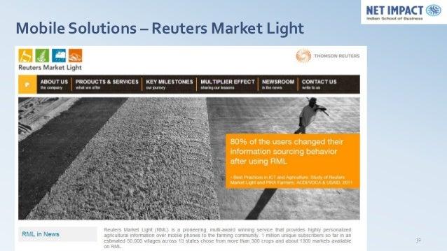 Mobile Solutions – Reuters Market Light                                          32