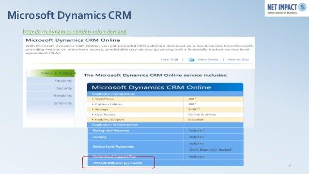 Microsoft Dynamics CRM  http://crm.dynamics.com/en-in/on-demand                                            8