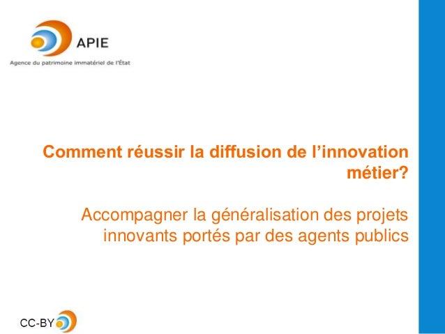 Comment réussir la diffusion de l'innovation métier? Accompagner la généralisation des projets innovants portés par des ag...