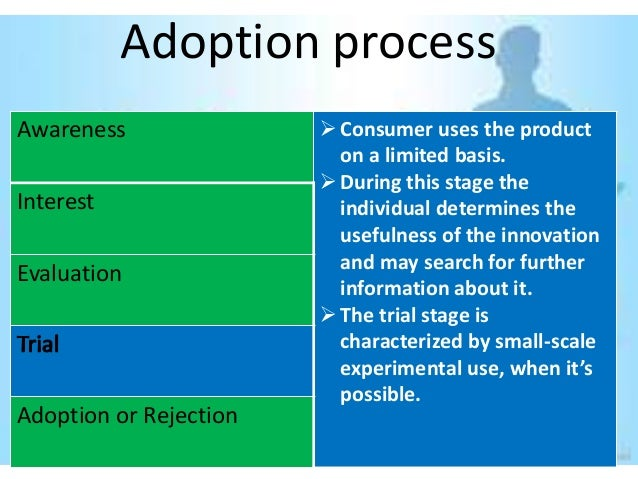 Adoption processAwareness                Consumer uses the product                          on a limited basis.          ...