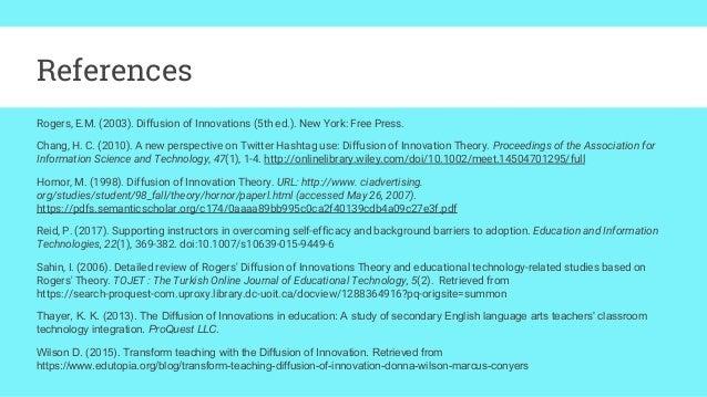 Diffusion of Innovation Presentation