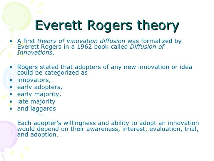 rogers 1962 diffusion of innovations pdf