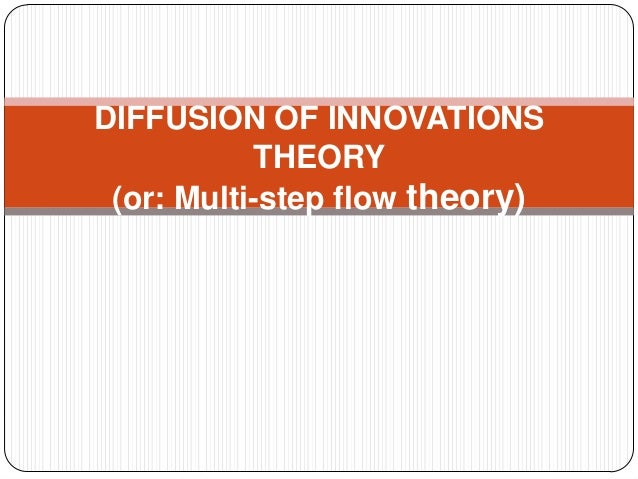 DIFFUSION OF INNOVATIONS THEORY (or: Multi-step flow theory)