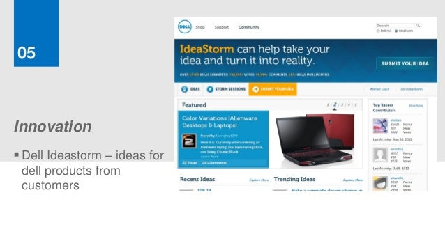 05Innovation Dell Ideastorm – ideas for dell products from customers