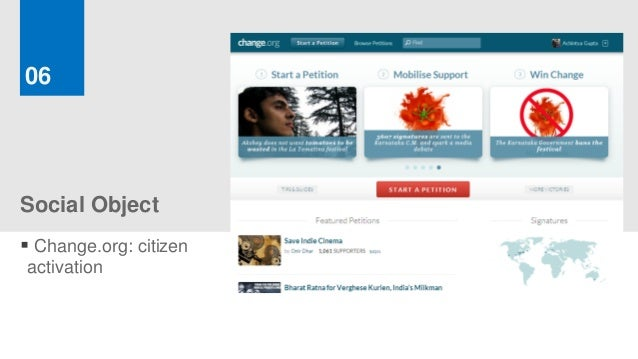 06Social Object Change.org: citizenactivation