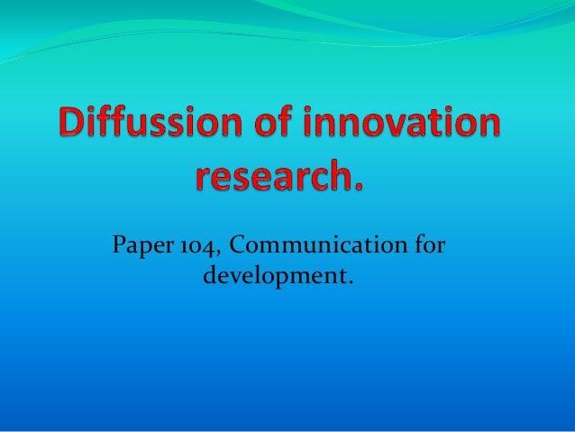 Paper 104, Communication for        development.