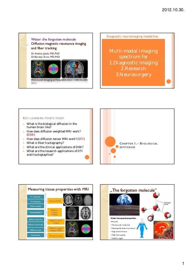 2012.10.30.                                                                 Diagnostic neuroimaging modalities         Wat...