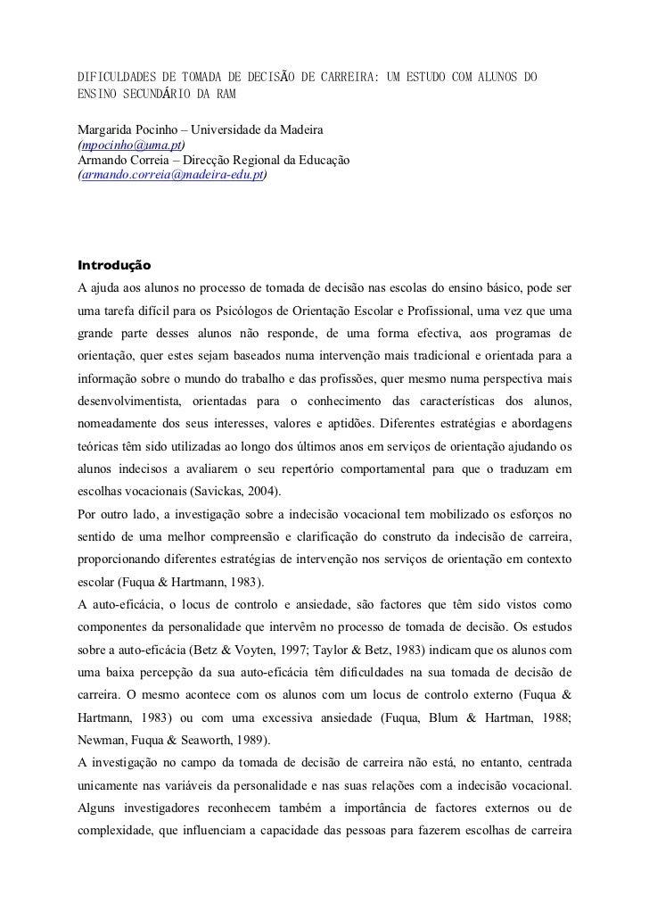à               ÁMargarida Pocinho – Universidade da Madeira(mpocinho@uma.pt)Armando Correia – Direcção Regional da Educaç...