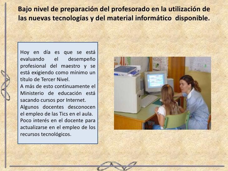 Dificultades para la_incorporacion_de_tics_en_el_aula Slide 3