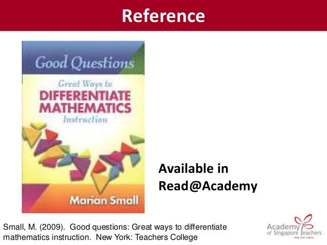 reference marian small good questions