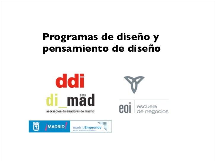 Diforum dise o en los programas de eoi escuela de negocios - Programas de diseno ...