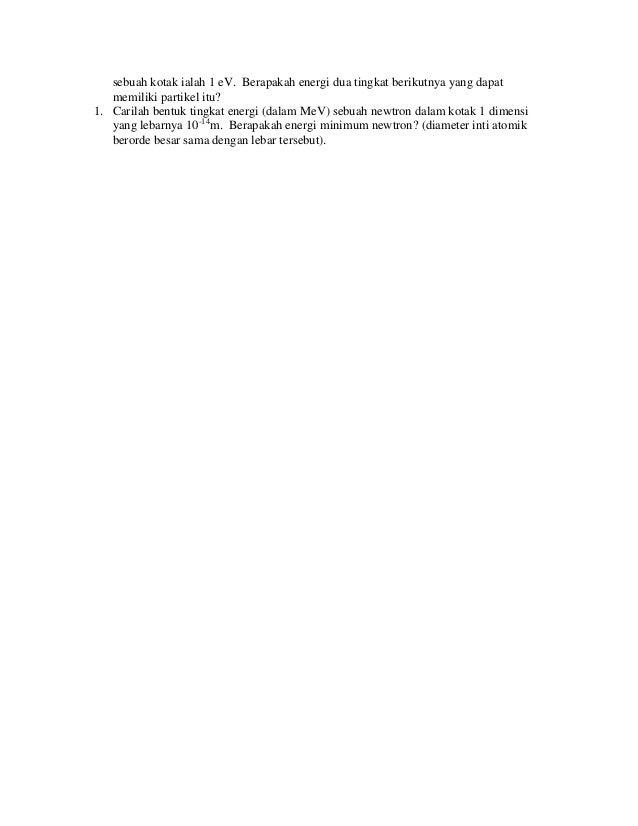 Difraksi Partikel Dalam Kotak Dan Prinsip Ketaktentuan