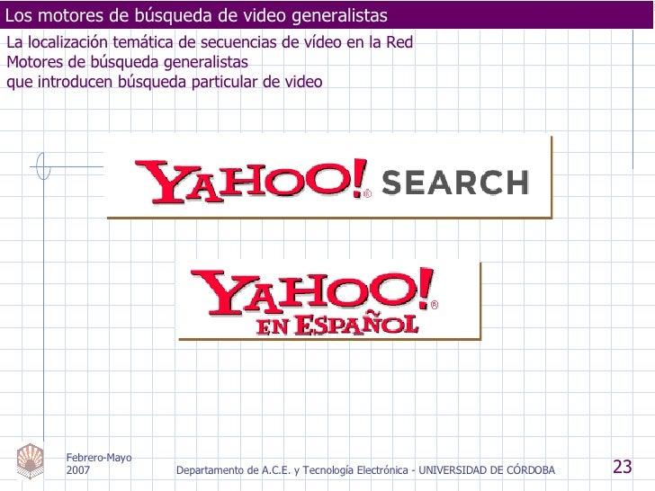 La localización temática de secuencias de vídeo en la Red Motores de búsqueda generalistas  que introducen búsqueda partic...