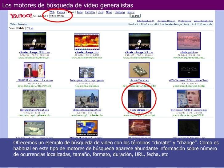 Los motores de búsqueda de video generalistas Marzo de 2006 Departamento de Electrotecnia y Electrónica  UNIVERSIDAD DE CÓ...