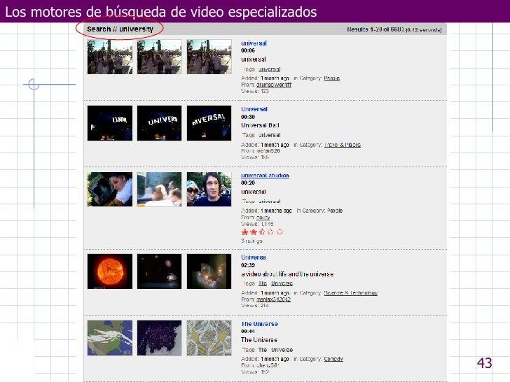 Los motores de búsqueda de video especializados Departamento de Electrotecnia y Electrónica  UNIVERSIDAD DE CÓRDOBA